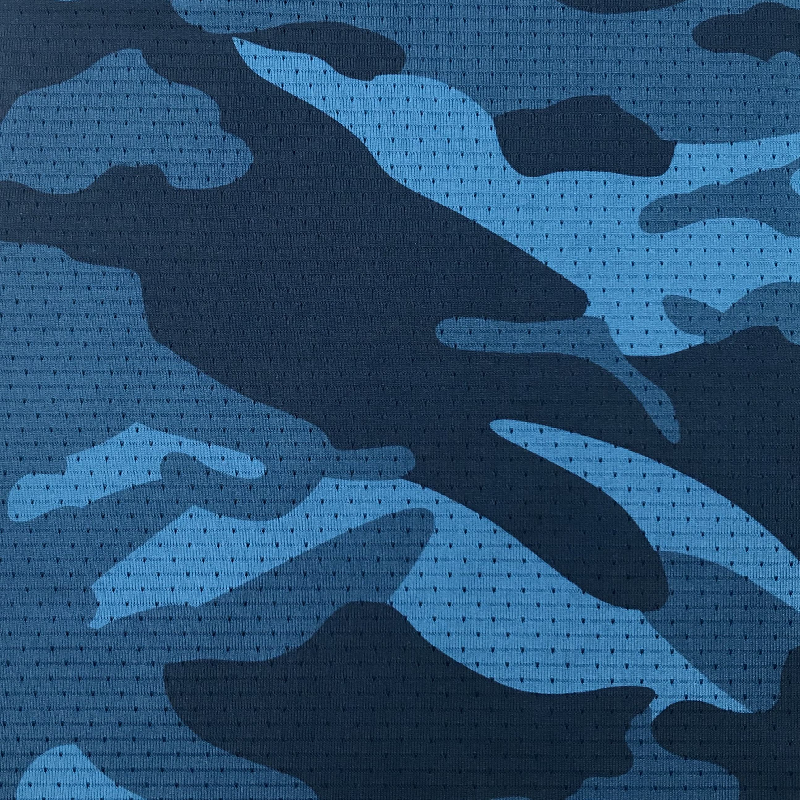 New Design Camouflage fabric 91% T 9% SP Mesh Knitted Sports Jersey Fabric For Sports Clothing