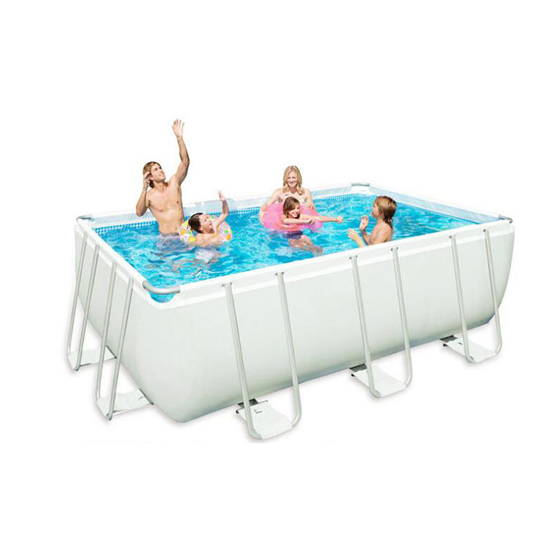 [Intex]Rectangular Metal Frame inflatable swimming pool