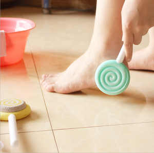 Lollipop Exfoliating Grinding Foot Tool Foot Scrub Calluses Tool Durable Stone Feet Care