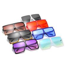 2020 Fashoin Square Oversized Sunglasses Women tint color square oversized custom sunglasses shades