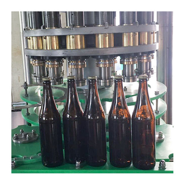Automatic Factory Bottle Capper Beer Glass Bottle Metal Crown Capping Machine