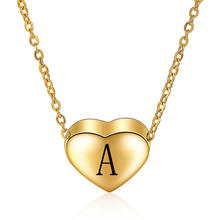 New arrived stainless steel Custom jewelry small heart initial letter pendant necklace