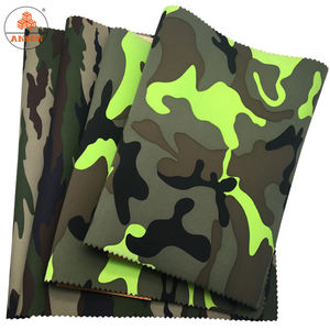 FREE SAMPLE 1mm soft neoprene fabric sheets with camouflage polyester fabric for bags factory supplier