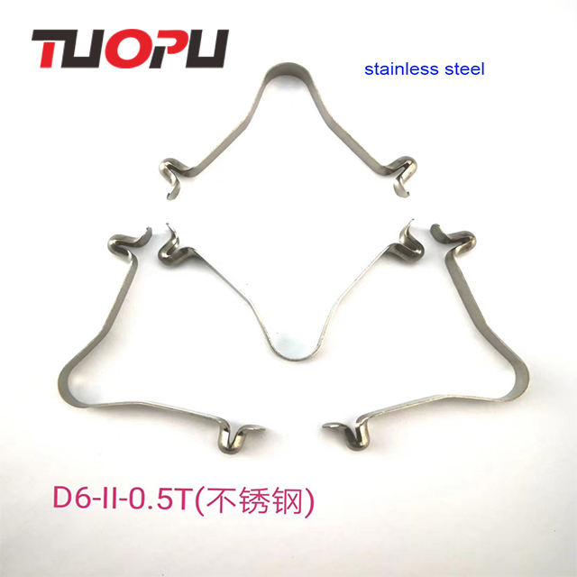 Factory supplier stainless steel tube lock pin push button spring clip Double botton hollow spring snap clips for pipe