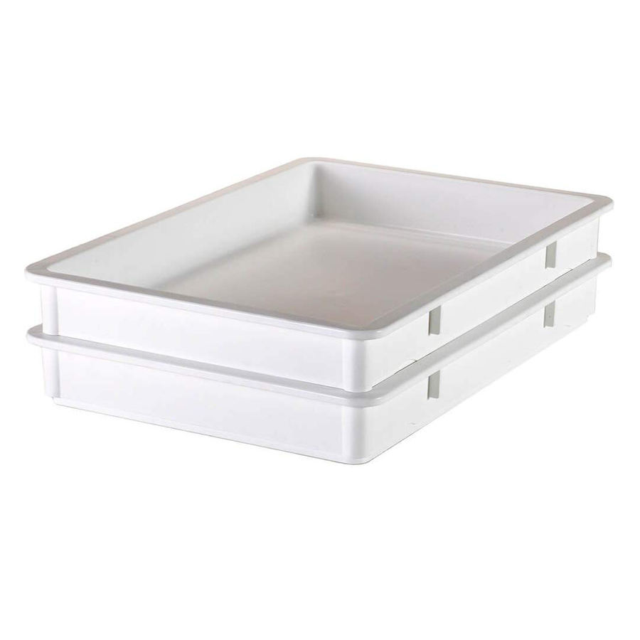 2020 factory wholesale price high quality strong and durable white heavy duty plastic pizza dough box for commercial kitchenware