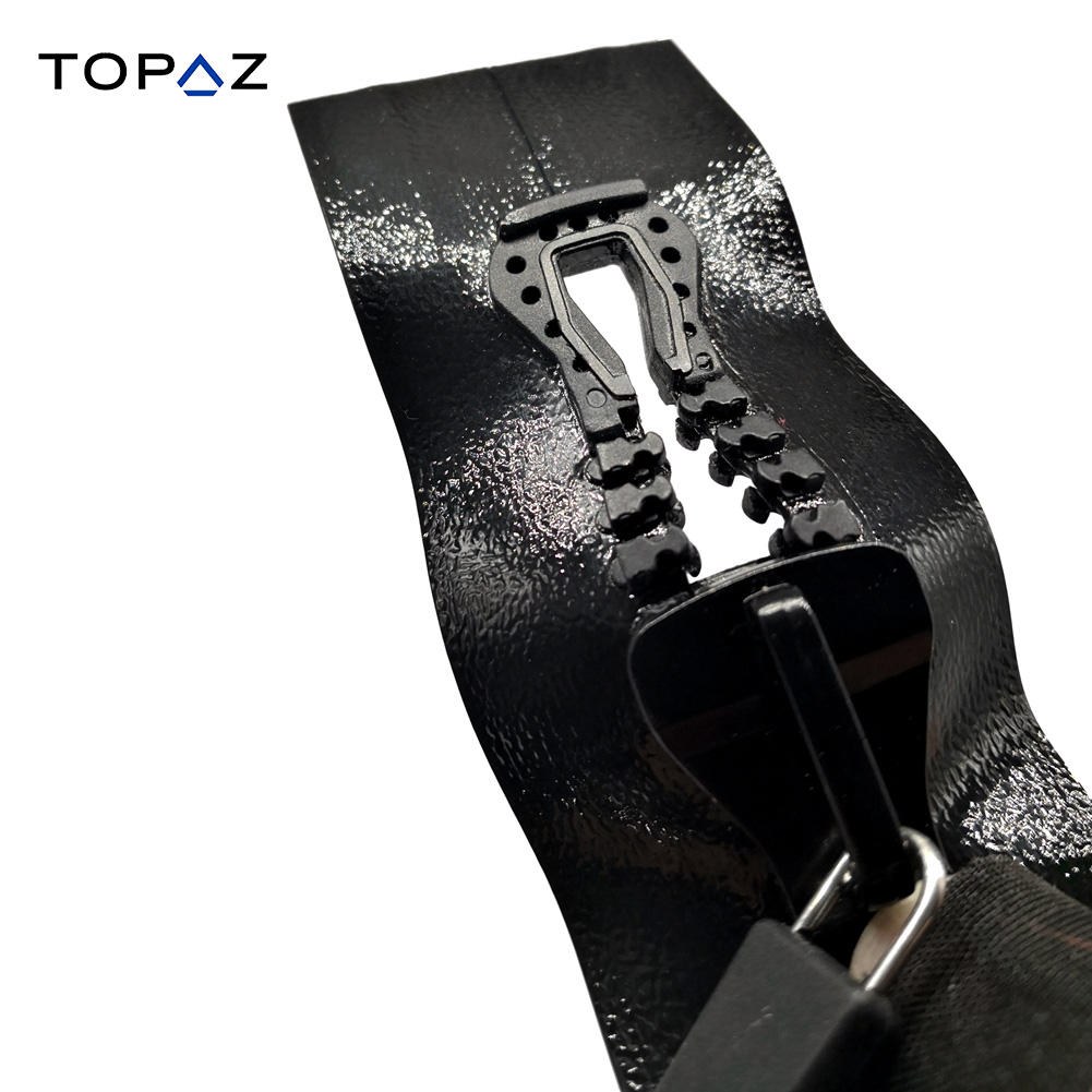 #10 Airtight Zipper Resin Waterproof Zippers TPU HF Weldable Isolation for Diving Suit Cooler Bag 50 Kpa Sealing Strength