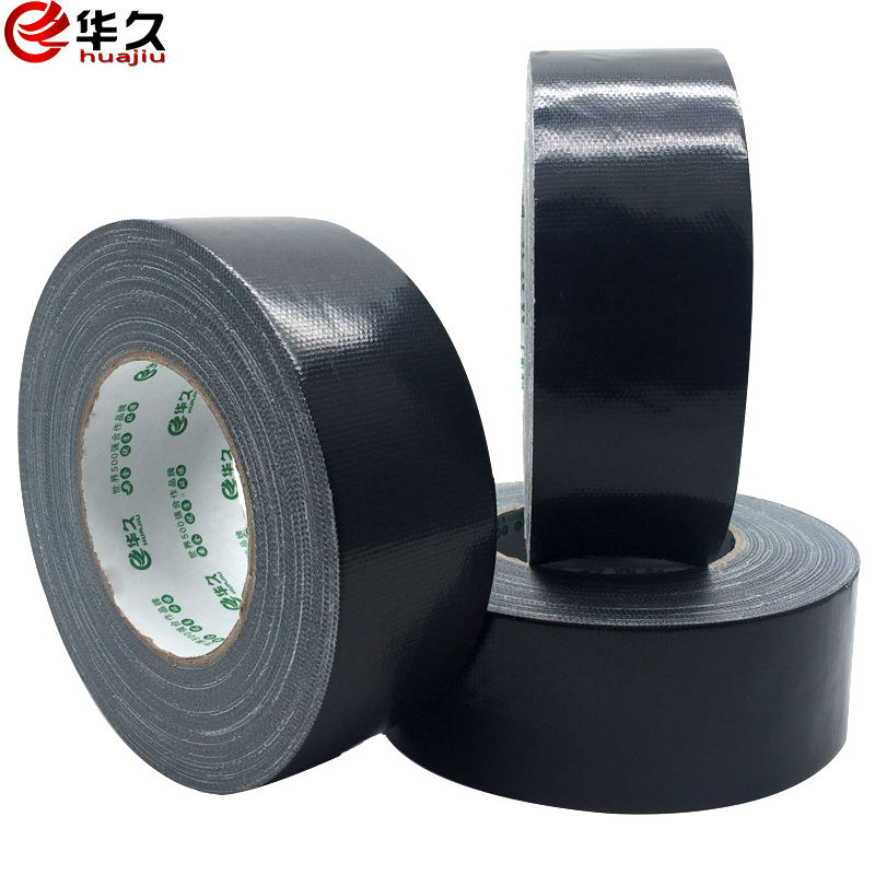 High adhesive black cloth tape