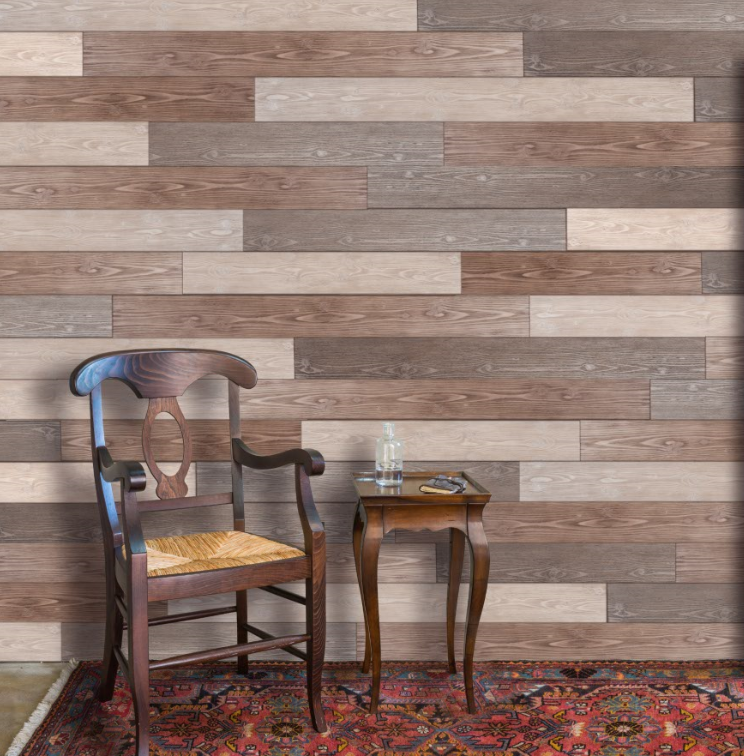 Solid wood decorative wall panel