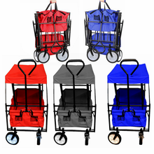 Collapsible Outdoor Garden Steel Frame Utility Beach sports Folding Wagon