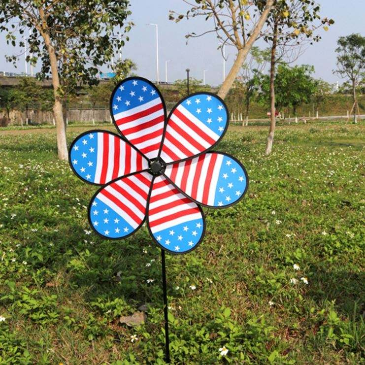 Windmill Garden Decoration Multifunctional Plastic Windmill Flower String Garden Decoration