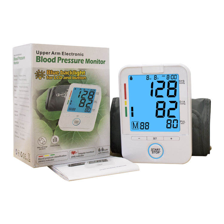 Heart Beat Rate Pulse Meter Tonometer LCD Sphygmomanometers pulsometer Automatic Digital Upper Arm Blood Pressure Monitor