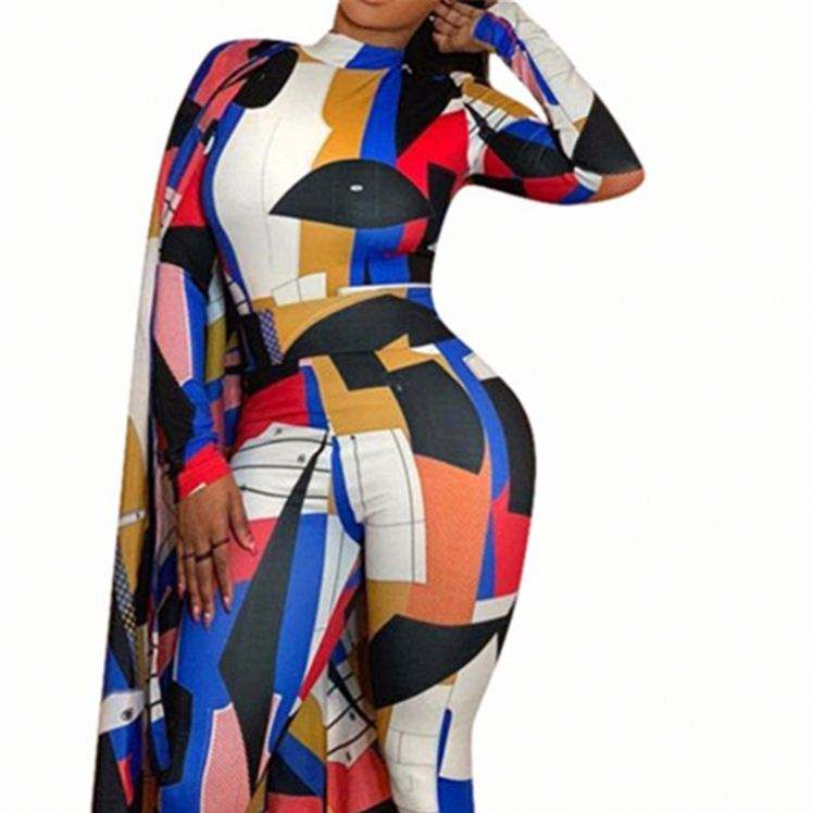 Wholesale Designer Clothing Plus Size Women Long Sleeves Formal Jumpsuit