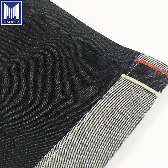 customized heavyweight japanese selvedge denim fabric blue for jeans button beatle buster