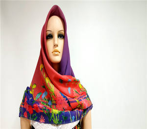 Wholesale women headcover india square muslim hijabs cotton scarf