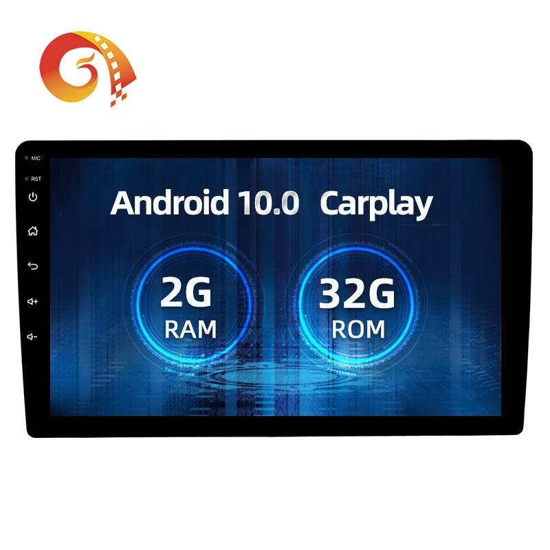 1024*600 HD Sentuh Layar 10 Inch Android 10 Carplay Rds Multimedia Player Universal 2 Din Gps <span class=keywords><strong>Mobil</strong></span> <span class=keywords><strong>Stereo</strong></span> Radio