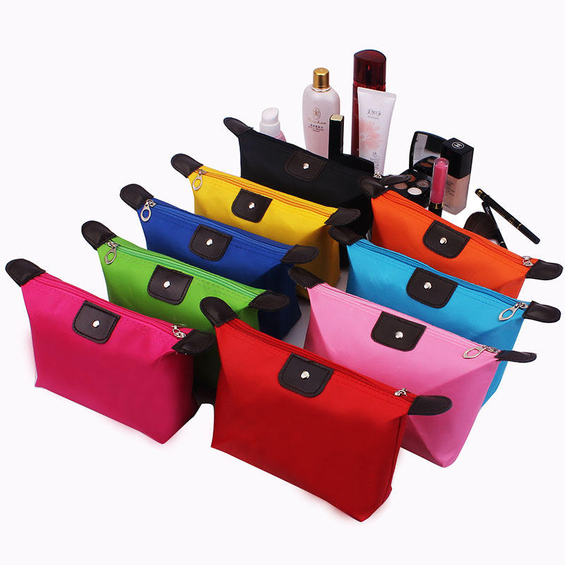 Wholesale Small Cosmetic Bag/Customized Travel Organizer Folding Makeup Bag