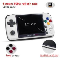 New PocketGo Retro Game Console 3.5inch IPS Screen game player PG2 Handheld Gaming Consoles PS1/SNES NPG Video Game Box Players