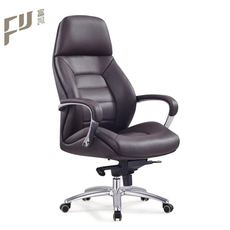 High Quality Modern Hot Sale High Back Black Pu Leather Ergonomic Office Swivel Shunde Furniture Chair With Arm Rest