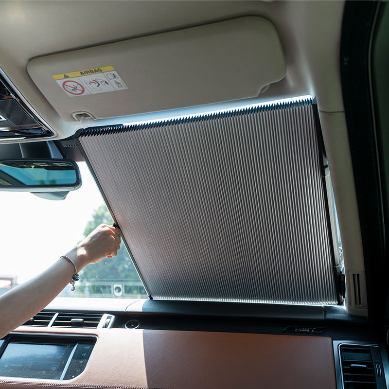 Automatically Scale Car Sunshade Retractable Car Front Windshield Visor Window Sun Shade