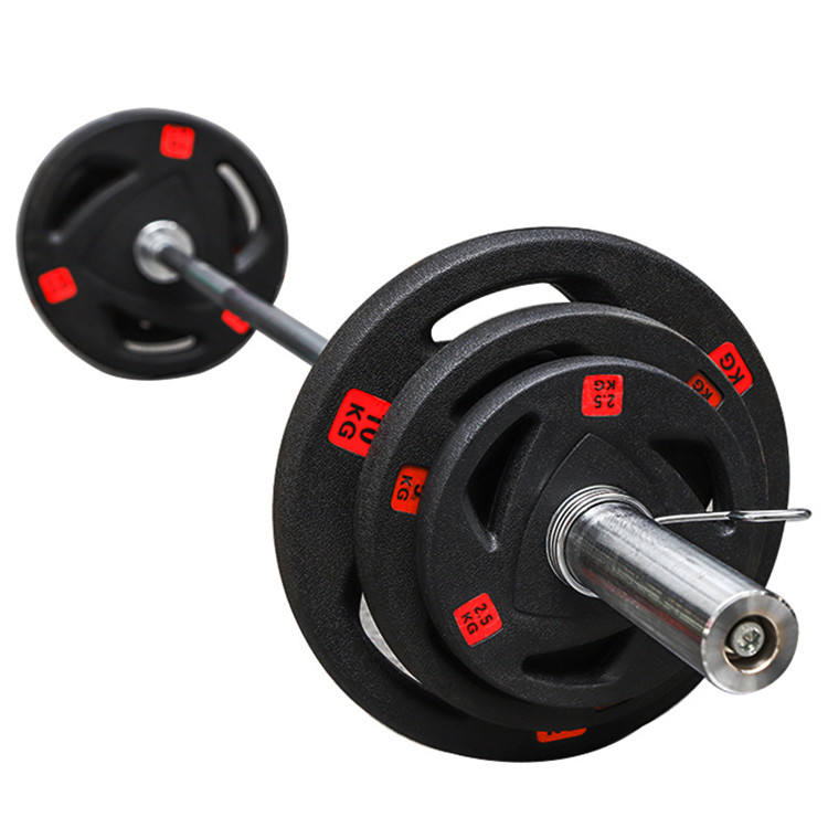 Cast Iron Black Competition Oem 2 1 Inch Tri Grip Dischi Pesi Ghisa Palestra Weight Bumper Plates Set Lbs 1 Inch