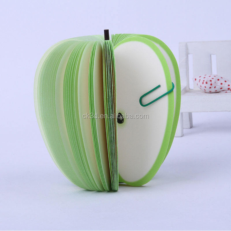 Custom obst geformt notizblock kawaii apple memo pad 3d memo pad
