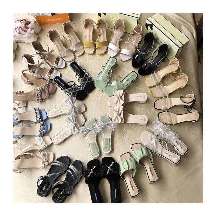 China wholesale women summer fashion beach pu slippers ladies fashion sandals ladies shoes sandals stock