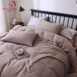 Luxury Organic 100% Bedsheet Bamboo Fiber Embroidered Bedshe