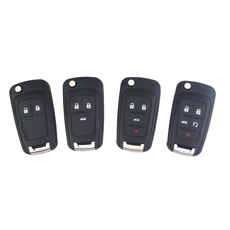 2 .3.4.5 Buttons Flip Remote Key Shell Fob For Chevrolet Aveo Cruze Orlando Car Key Case Cover