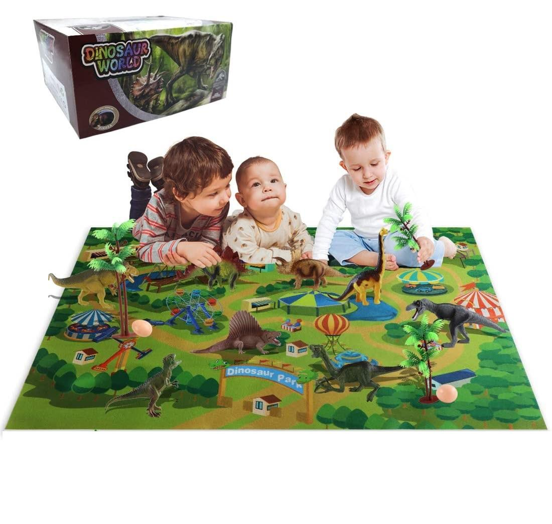 Educational diy coloring white 3d model juguetes kit unpaint dinosaur toy figure with activity play mat