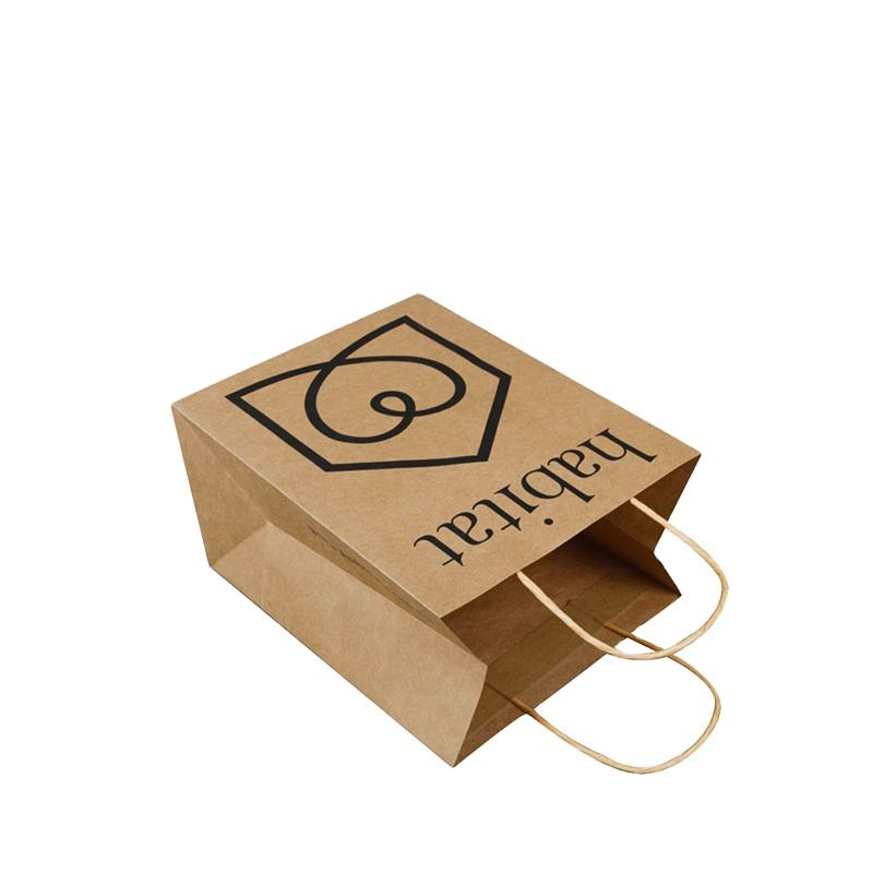 Latest modern design plus size Paper Bags 8 inch x 11 inch x 3.8 inch natural brown colour kraft paper