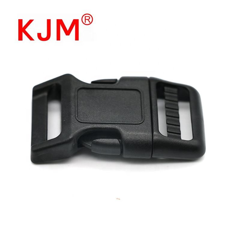 Wholesale price black plastic curve quick side release buckles for cat collar