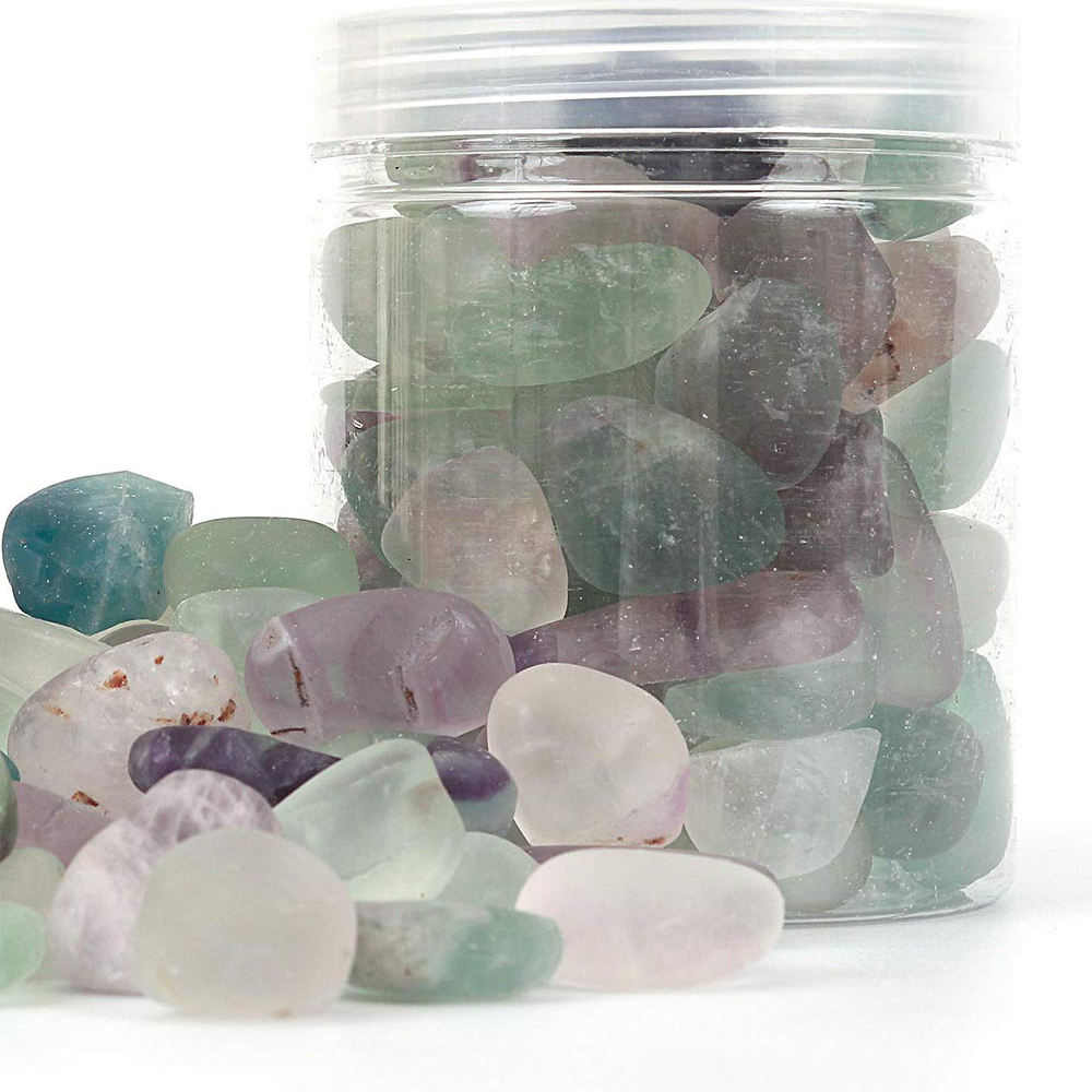 Factory Supply Natural Clear Amethyst Quartz Tumbled Natural Ice Crystal Stone Citrine Crystals Tumbled Stone