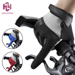 HEHE Custom Breathable Mesh Full Finger Gel Pad Touch Screen Sport Motorcycle Riding Bike Bicycle Cycling Gloves