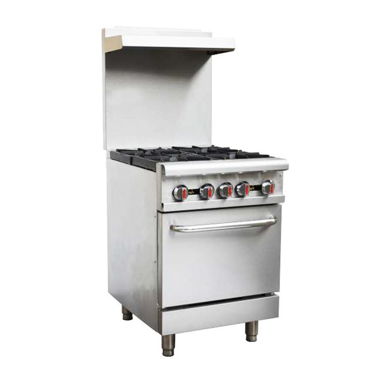 Hotel Restaurant Kitchen Catering Cooking Equipment Commercial 4 Burner Gas Stove Burner