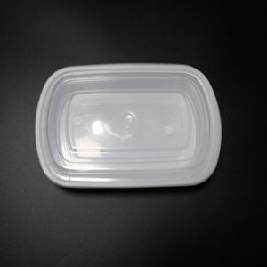 White Box Food Plastic Storage For Dumpling Restaurant Black Disposable Container
