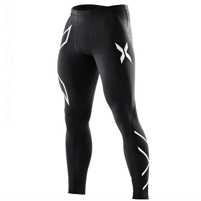 Custom compression tights fitness gym sports running jogger leggings pants for men