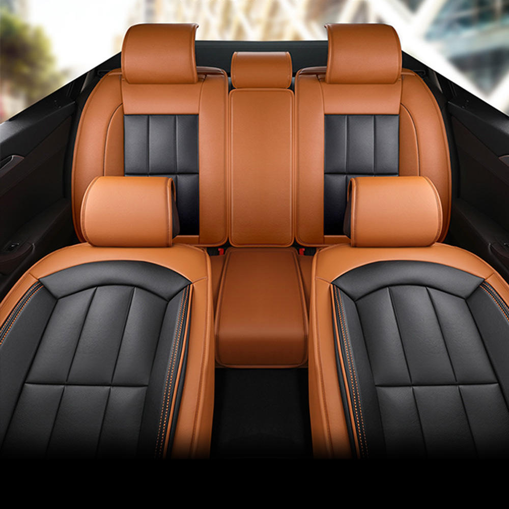 PU Leather fly 5D Stereo most comfortable car seat cover set Deluxe Edition car cushion Protector Set