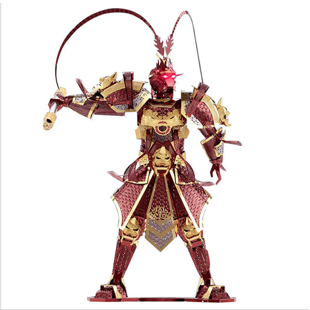 Warriors models 3D Metal Nano Puzzle The monkey king Model DIY 3D Laser Cutting Models Jigsaw Toys for adults