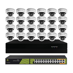 Indoor 24CH 5mp cctv camera kit H.265+ 24 channels video surveillance camera system with 24 dome cameras set