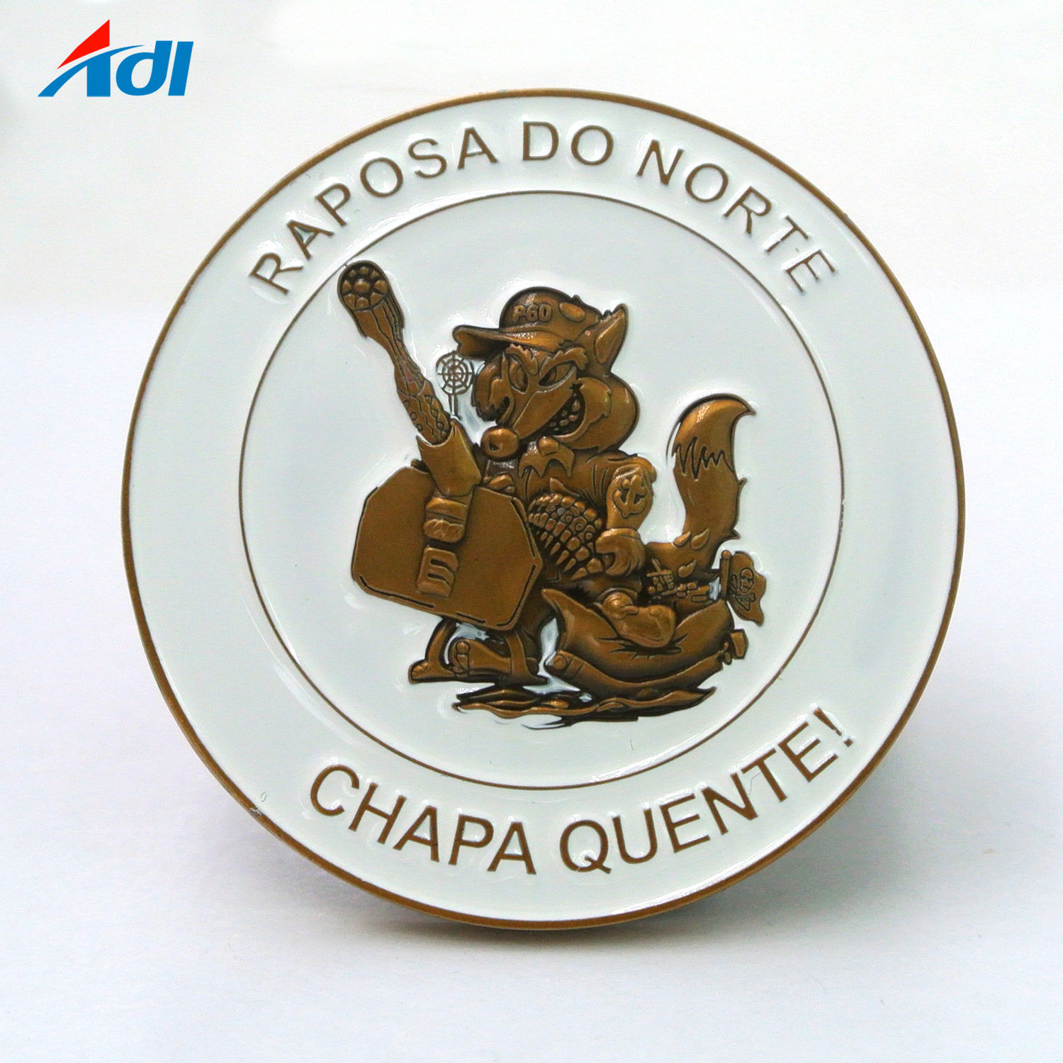 Cheap metal enamel challenge commemorative coins with custom logo