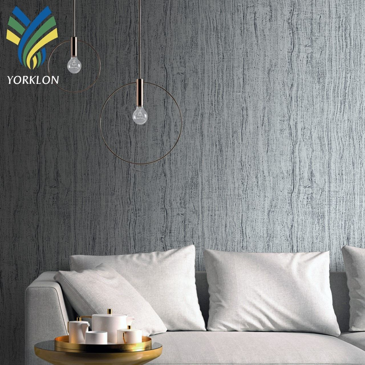 YKBR 5 Grey wall paper 3d home decoration line wall paper rolls white wallpaper bedroom