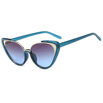 Sexy Gradient Sunglasses for Women Luxury Cat Eye Sunglass Brand Design Retro Triangle Sun Glasses Ladies Shades UV400
