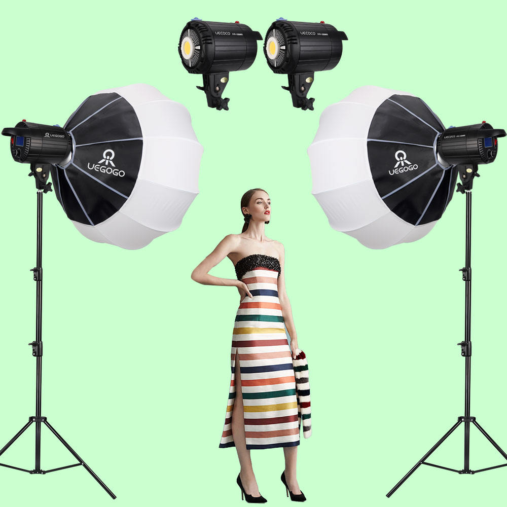 UEGOGO 2021 NEW Professional 150W LED Video Studio Photographic Continuous Lamp Lighting FillでLight Kits