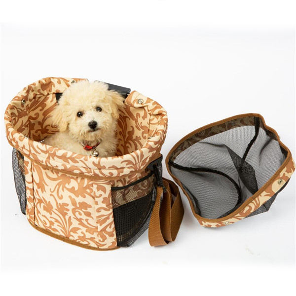 SINO high quality factory price safety pet travel shoulder carrier bicycle basket bag for dog cat bike pet carrier bag