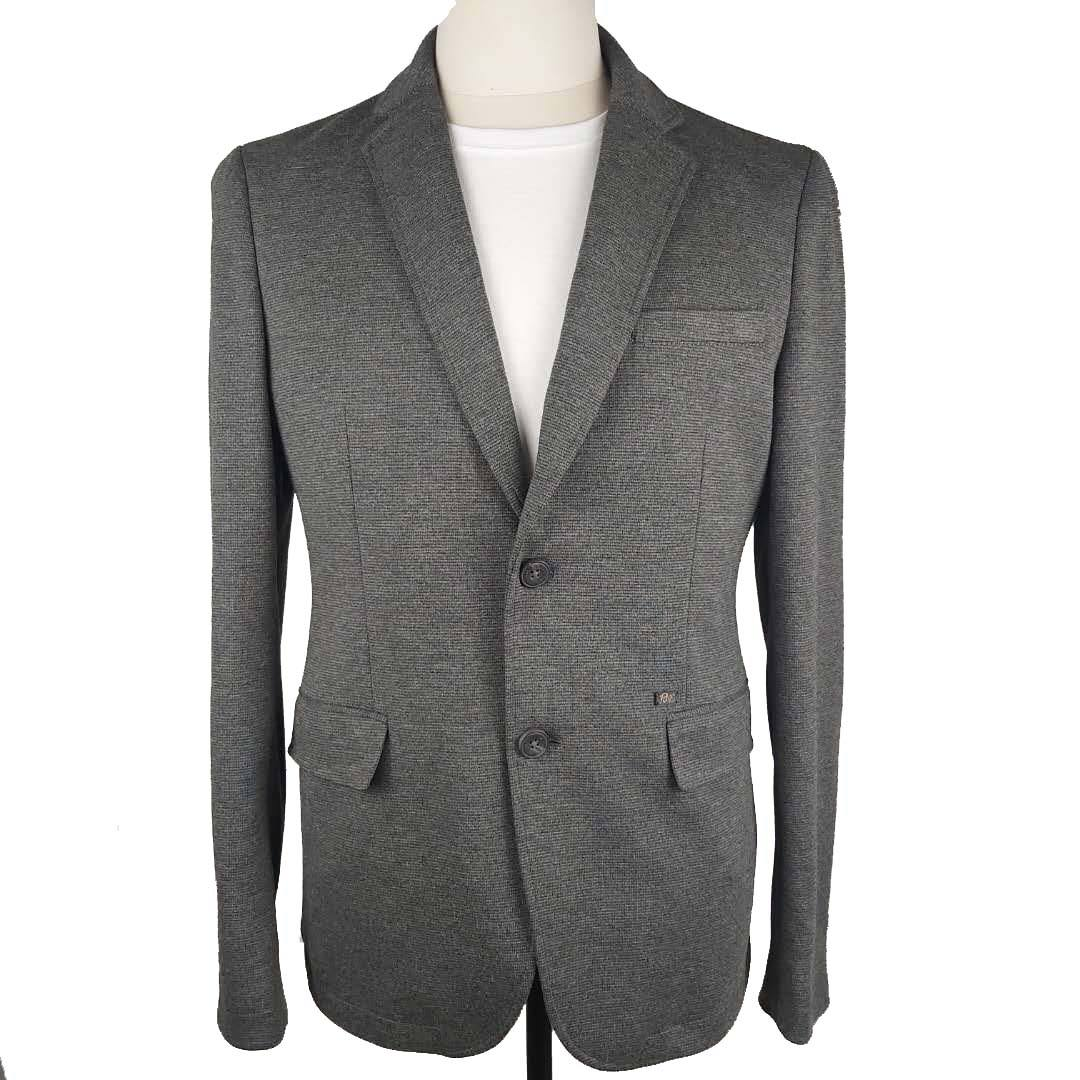 casual blazer jacket mans single breasted blazer men slim fit blazer knitting samples for sale