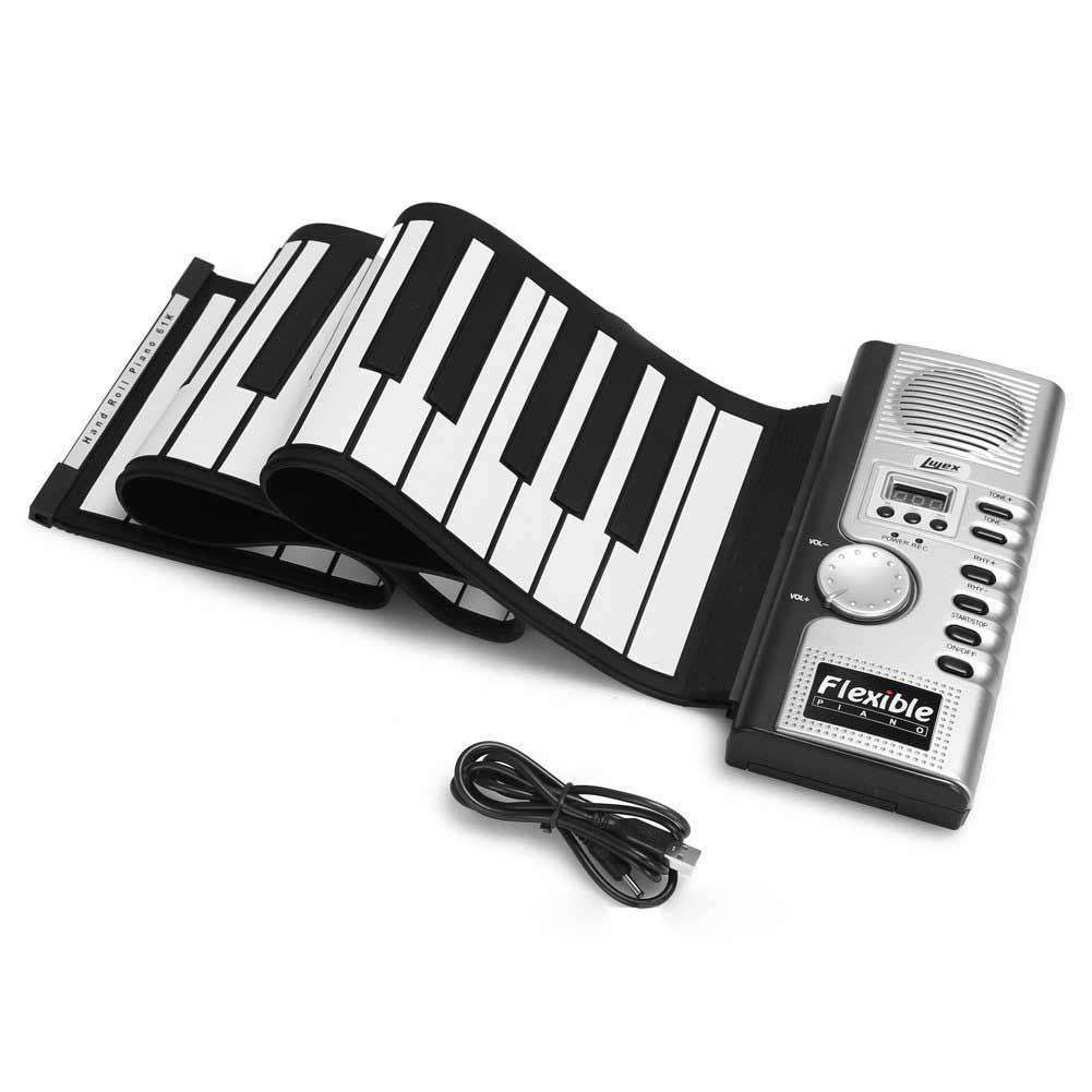 61-key hand-rolled piano children's electronic keyboard portable horn silicone keyboard adult electronic keyboard