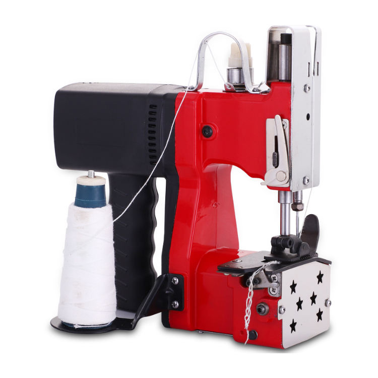 LJJZH88 Industrial Electric Bag Stitching Closer Portable Sealing Sewing Machine Snakeskin Sack Woven Bag Closer Stitcher