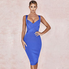 Factory wholesale v neck women sexy bodycon party dresses bandage dress