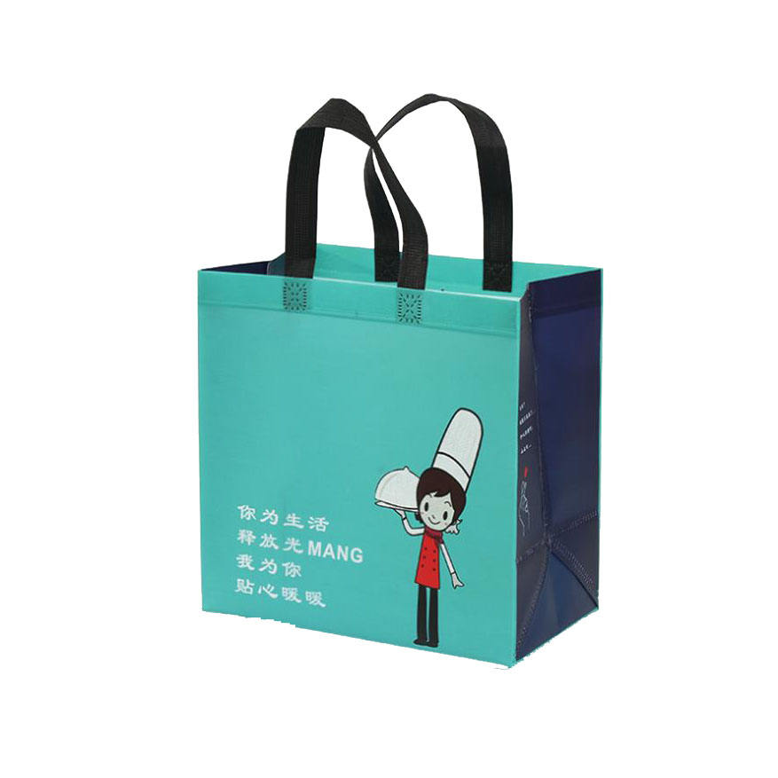 Eco-Friendly Customized Promotional wikipedia pp Non Woven Bag paper Non woven pizza ShoppingBag Laminated Non-woven Tote Bag