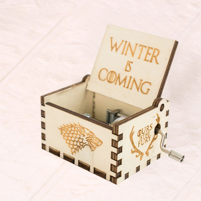 Hot Sale Custom Made Crank Music Box Diy Christmas Gift With Popular Song Mini Music Box For Sale